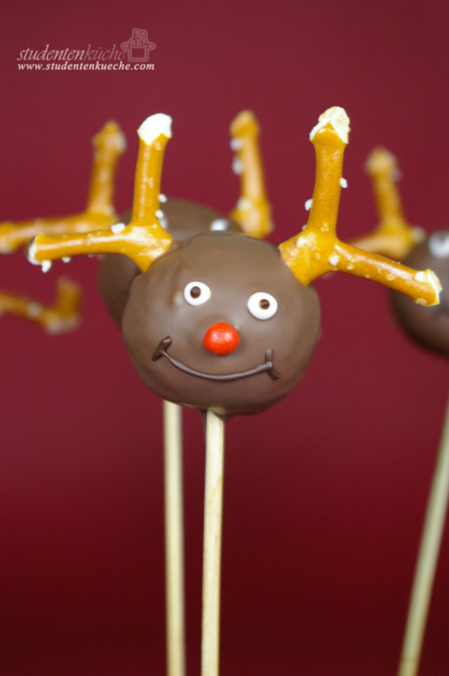 Weihnachten: Cake Pops - Rudolph the Red-Nosed Reindeer