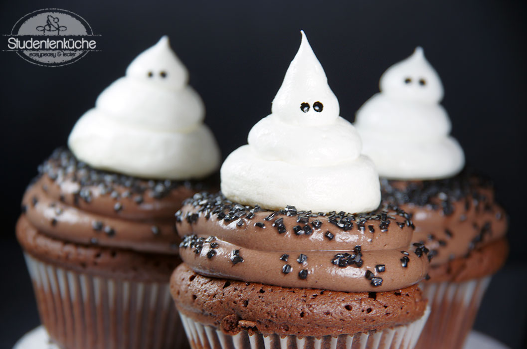 halloween ghost cupcakes. Black Bedroom Furniture Sets. Home Design Ideas